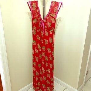 Vintage Betsey Johnson Strawberry Print Dress